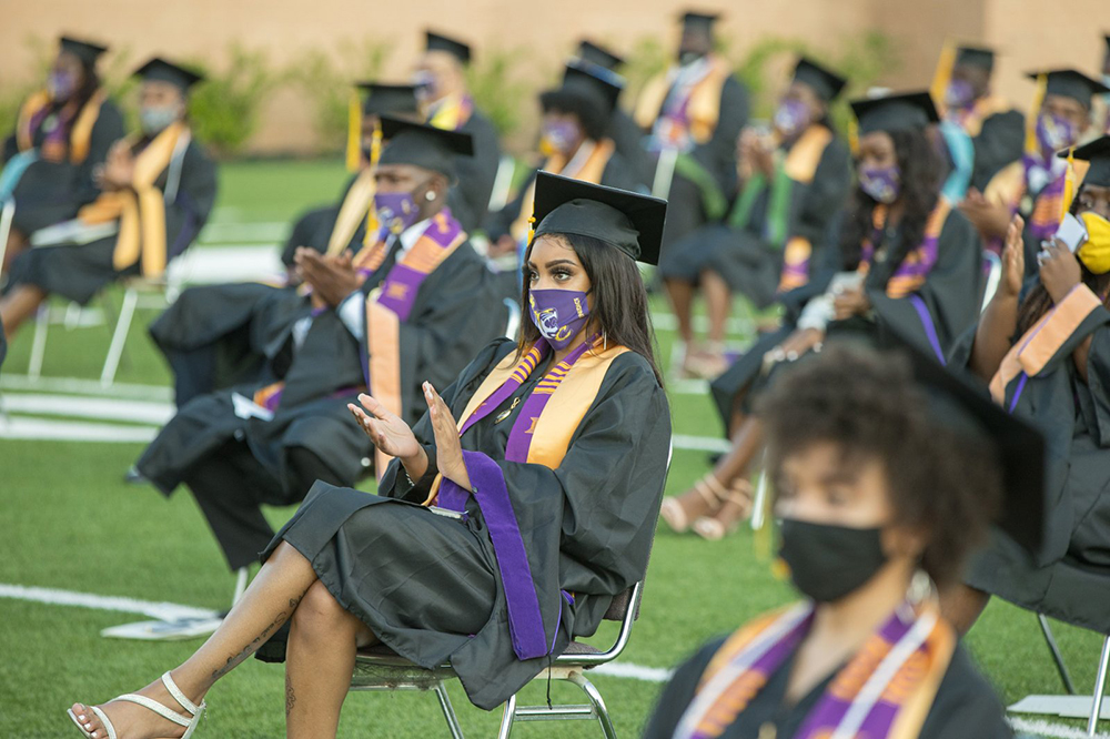 Students at Benedict's 2020 Commencement