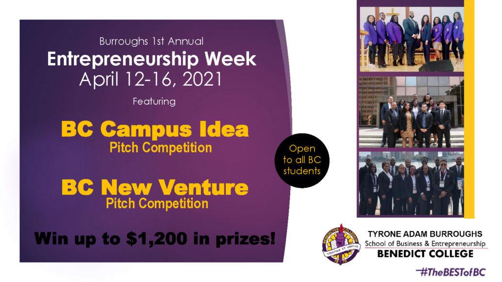 Burroughs Entrepreneurship Week 2021 Competitions