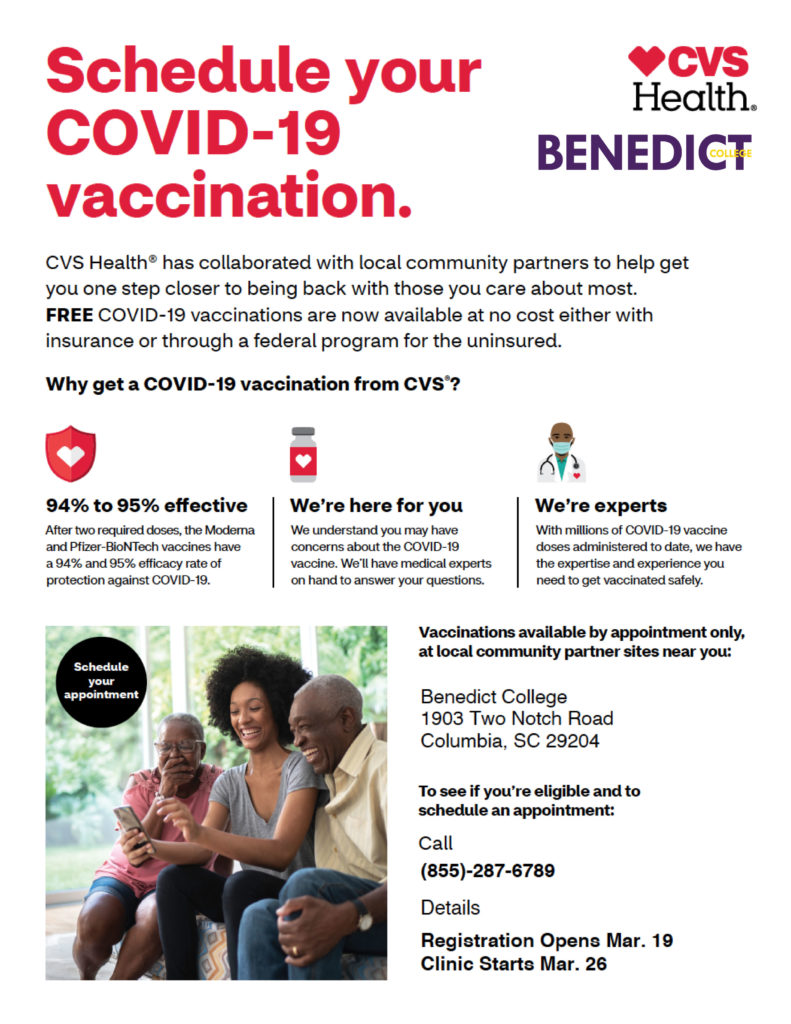 Schedule your COVID-19 vaccination.